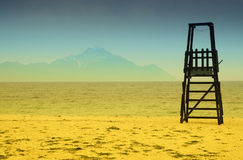 Baywatch tower on the beach Royalty Free Stock Photos