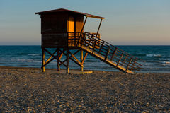Baywatch tower on the beach Royalty Free Stock Photo