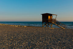 Baywatch tower on the beach Stock Photography