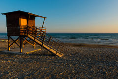 Baywatch tower on the beach Stock Photo