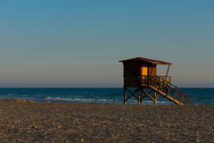 Baywatch tower on the beach Royalty Free Stock Images