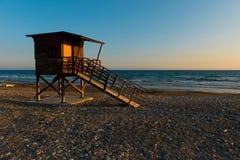 Baywatch tower on the beach Stock Photos
