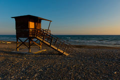 Baywatch tower on the beach Royalty Free Stock Photography