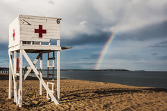 Baywatch tower Royalty Free Stock Photo