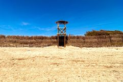 Baywatch tower in Piombino, Italy Stock Photos