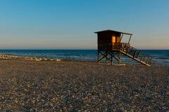 Baywatch wierza na plaży fotografia stock