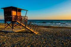 Baywatch wierza na plaży obraz royalty free