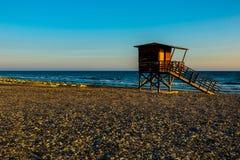 Baywatch wierza na plaży zdjęcia royalty free