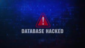 Baza danych Siekający Raźny Ostrzegawczy błąd wiadomości mruganie na ekranie ilustracja wektor