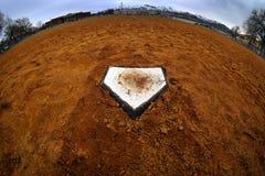Baza Domowa baseballa wynik w grą fotografia stock