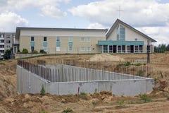 Baza nowy duży kościół Zdjęcie Stock