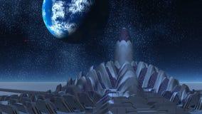 Baza obcy i UFO ilustracja wektor