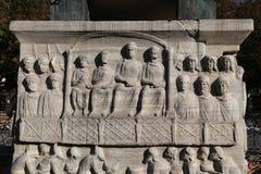 Baza obelisk Theodosius w Istanbuł zdjęcia royalty free