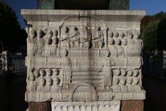 Baza obelisk Theodosius w Istanbuł obrazy royalty free