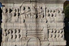 Baza obelisk Theodosius w Istanbuł fotografia royalty free