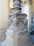 Baza stara latarnia uliczna z bareliefem obrazy royalty free