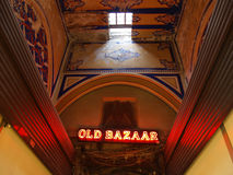 Bazaar 01. Old bazaar sign in Istanbul Stock Images