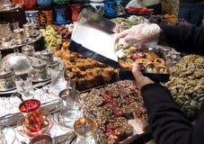 bazaar όψη καρυκευμάτων της Κωνσταντινούπολης Στοκ Εικόνες