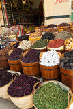 The bazaar of Aswan in Egypt. Royalty Free Stock Image