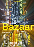 Bazaar background concept glowing Royalty Free Stock Photo