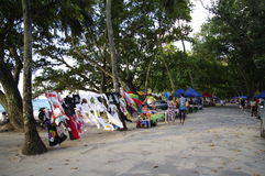 Bazaar at Beau Vallon, Seychelles Stock Photo