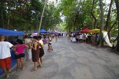 Bazaar at Beau Vallon, Seychelles Royalty Free Stock Photo