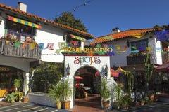 Bazaar Del Mundo Shops in San Diego Old Town State Park stock foto