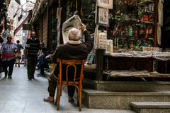 Bazaar. Just another ordinary day in Khan el-Khalili Bazaar, Cairo Royalty Free Stock Photography