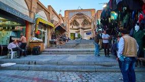 Bazaar in Kashan, Iran stock footage