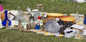 Bazaar for sale on grass Stock Images