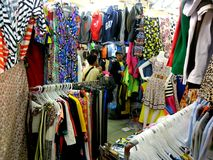 Bazaar shops in greenhills shopping center Royalty Free Stock Images