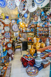 Bazaar shops in Turkey Royalty Free Stock Photo