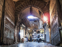 Bazaar souk market street in aleppo old town syria Stock Photos