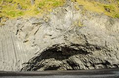 Bazalt Rockowa szpaltowa jama Iceland obrazy royalty free