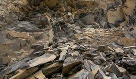 Bazalt skała w górach Rumunia, natury zamknięty up obraz royalty free