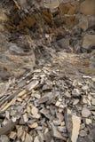 Bazalt skała w górach Rumunia, natury zamknięty up zdjęcia stock