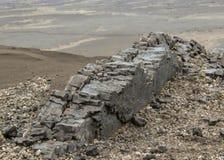 Bazaltowa kolumny formacja w Askja, średniogórza Iceland, Europa zdjęcia stock