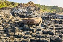 bazaltowego droga na grobli gigantyczny phu prowinci s Vietnam jen Zdjęcia Stock