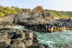 bazaltowego droga na grobli gigantyczny phu prowinci s Vietnam jen Zdjęcie Stock