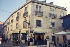 Bazar Alfama znak robić Azulejos w Lisbon, Portugalia Zdjęcia Stock