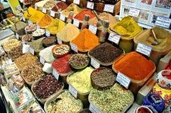 Bazar Costantinopoli della spezia fotografie stock