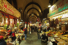 Bazar d'épice (bazar égyptien) à Istanbul images stock