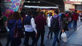 Bazar da rua de Besiktas, Istambul, Turquia filme