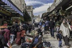 Bazar da rua no Jerusalém Foto de Stock