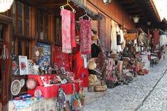 Bazar dans Kruja image libre de droits