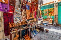 Bazar dans la vieille ville de Jérusalem Photo stock