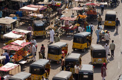 Bazar de Charminar, Hyderabad Photo stock