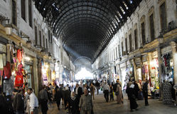 Bazar de Hamidiye en Alepo imagen de archivo libre de regalías