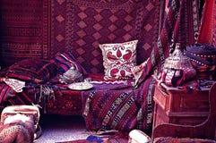 Bazar de la alfombra en Turquía foto de archivo