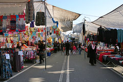 Bazar de la calle en Estambul Imagen de archivo libre de regalías